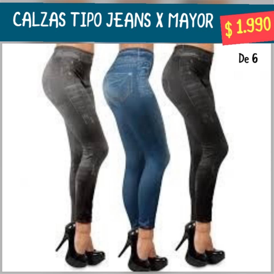 Calzas tipo Jeans